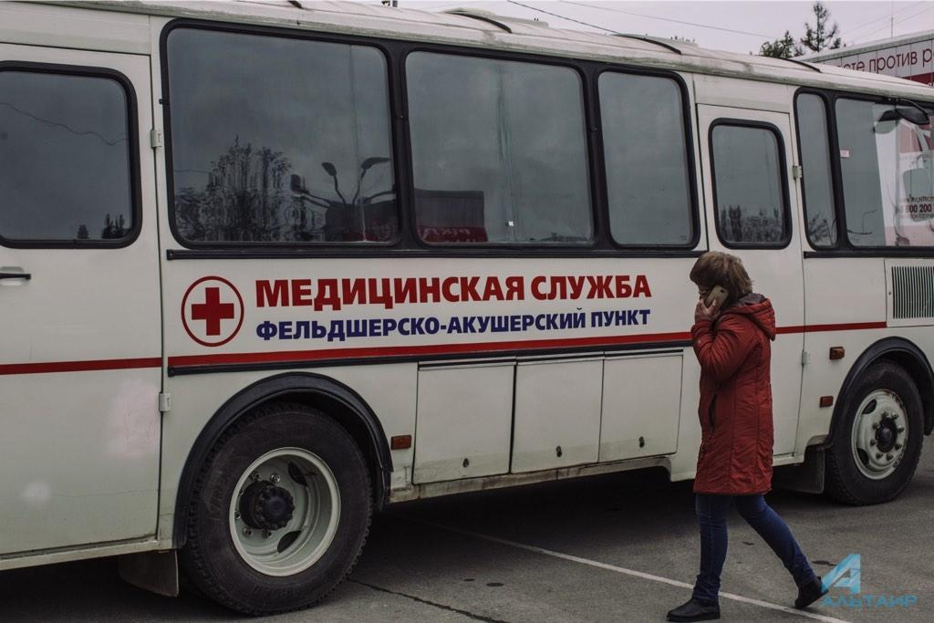 Открытие выставки передвижных медицинских комплексов